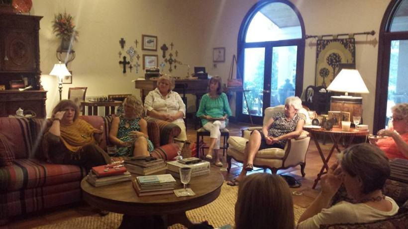 Brenda Sutton Rose, Author of Dogwood Blues, speaking at Book Club in the beautiful home of Donna Morris.